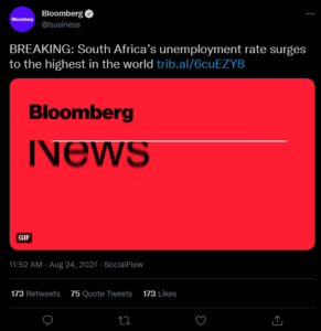 Bloomberg Unemployment South Africa